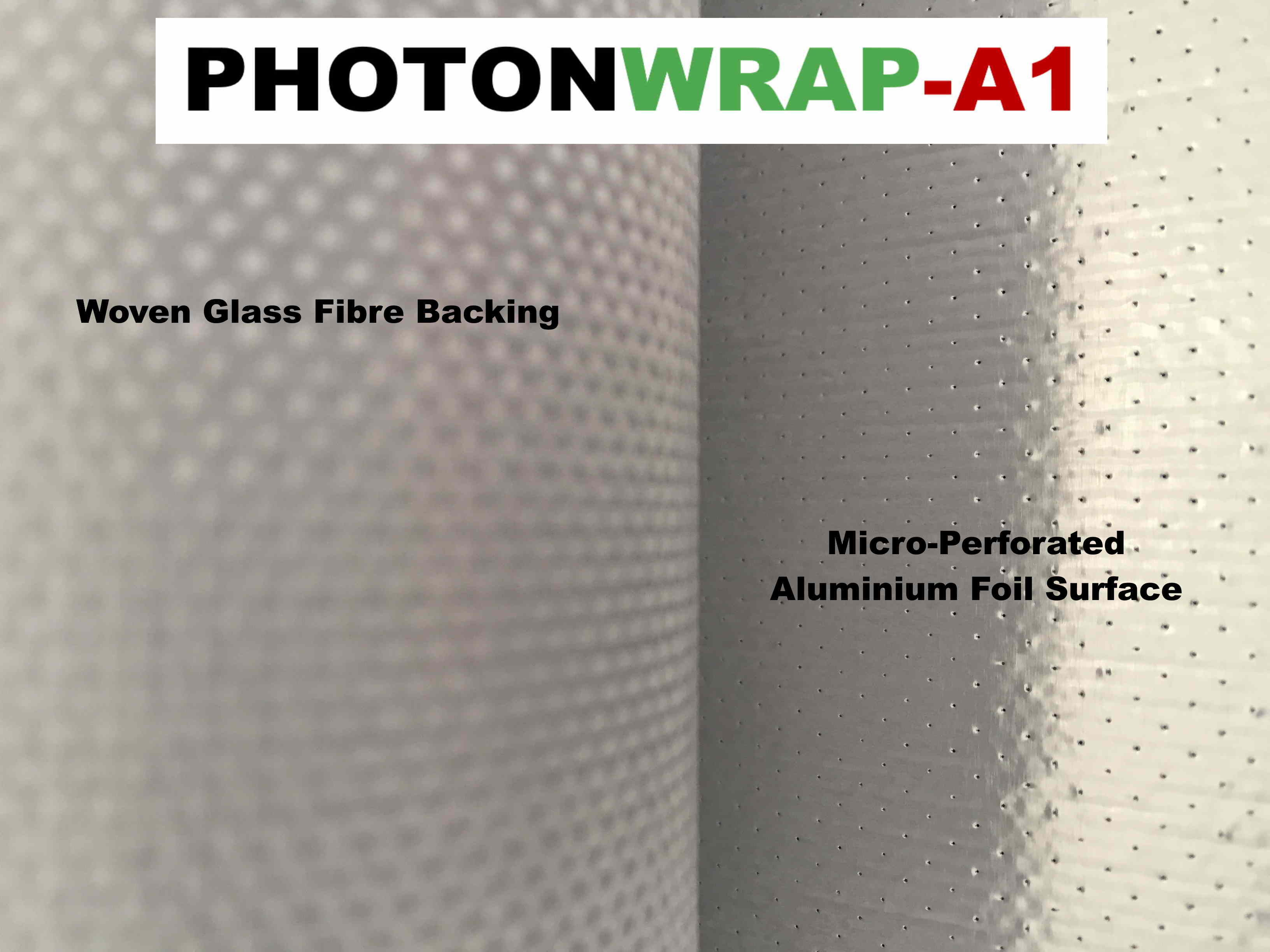 A1 PhotonWrap, Breathable W2 Reflective Insulation Membrane house wrap for timber frame walls.