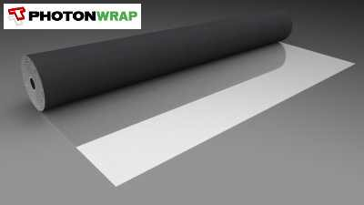 PhotonWrap, Breathable W2 Reflective Insulation Membrane house wrap for timber frame walls.